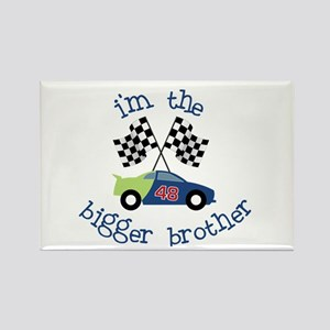 bigger brother race Rectangle Magnet
