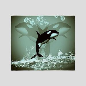 Amazing Orca Throw Blanket