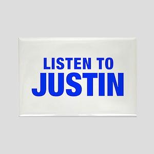 LISTEN TO JUSTIN-Hel blue 400 Magnets
