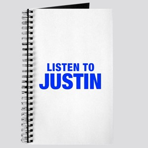 LISTEN TO JUSTIN-Hel blue 400 Journal