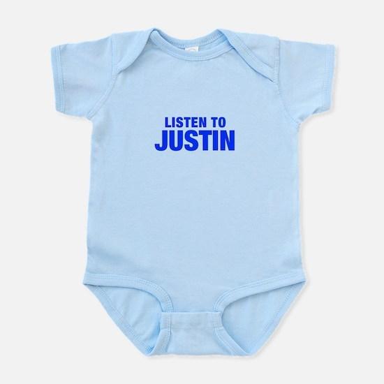 LISTEN TO JUSTIN-Hel blue 400 Body Suit