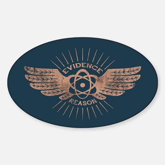 Winged Atom Sticker (Oval)