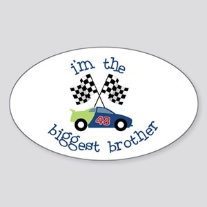 biggest brother race Oval Sticker