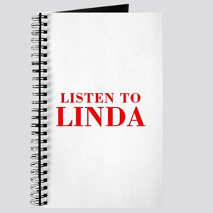 LISTEN TO LINDA-Bod red 300 Journal