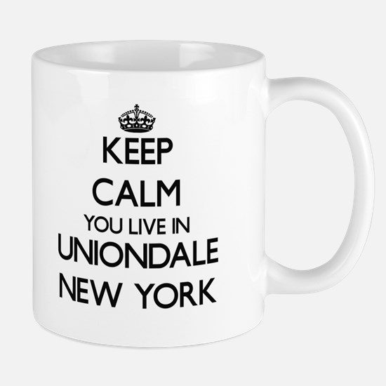 Keep calm you live in Uniondale New York Mugs