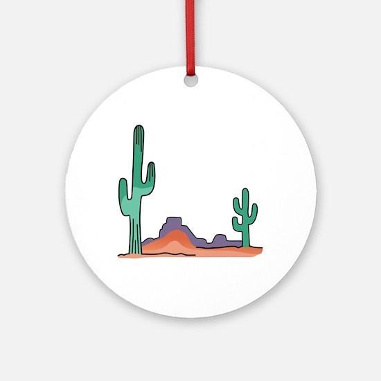 DESERT SCENE Ornament (Round)