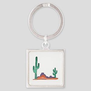 DESERT SCENE Keychains