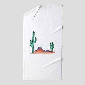 DESERT SCENE Beach Towel