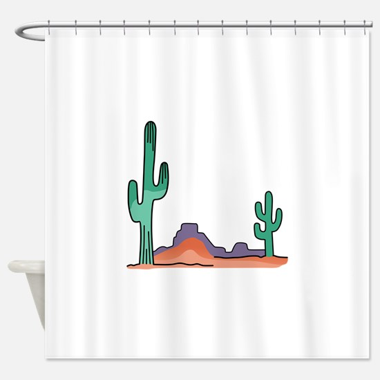 DESERT SCENE Shower Curtain