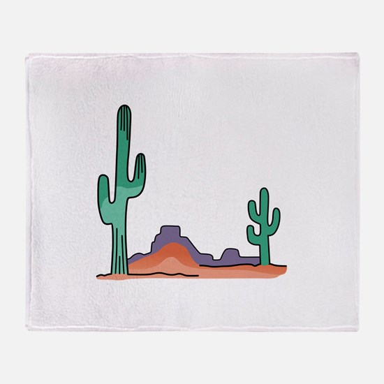 DESERT SCENE Throw Blanket