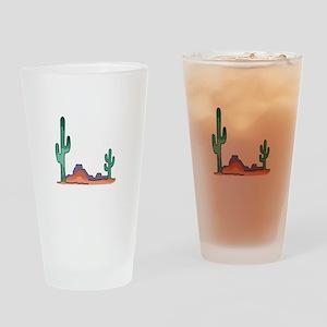 DESERT SCENE Drinking Glass