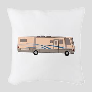 RV MOTORHOME Woven Throw Pillow
