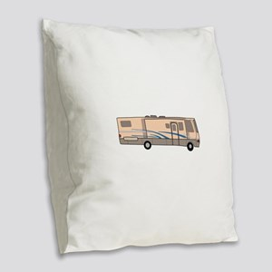 RV MOTORHOME Burlap Throw Pillow