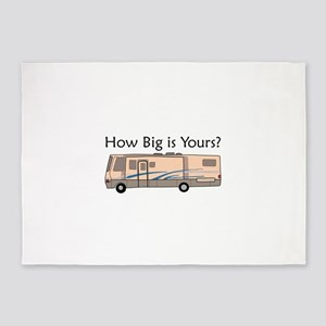 How Big Is Yours? 5'x7'Area Rug