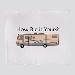 How Big Is Yours? Throw Blanket
