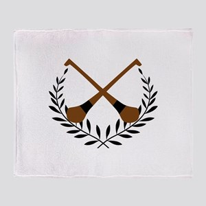 HURLING WREATH Throw Blanket