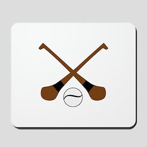 HURLING BATS AND BALL Mousepad