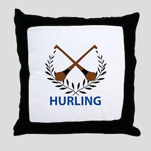HURLING CREST Throw Pillow