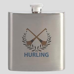 HURLING CREST Flask