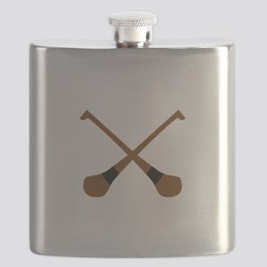 CROSSED HURLING BATS Flask