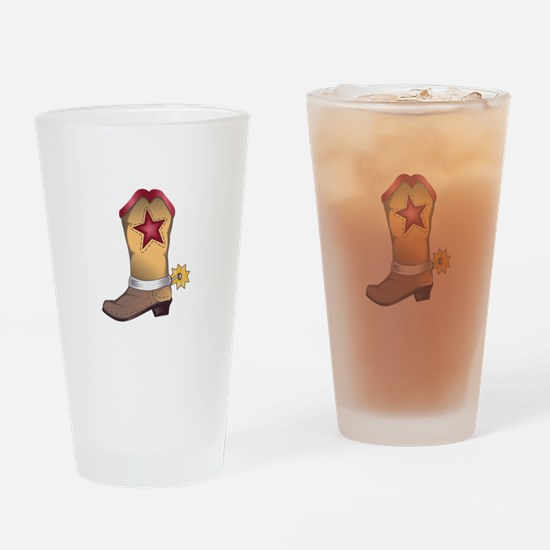 COWBOY BOOT Drinking Glass