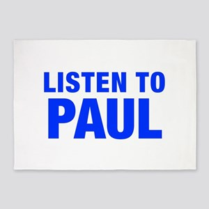 LISTEN TO PAUL-Hel blue 400 5'x7'Area Rug