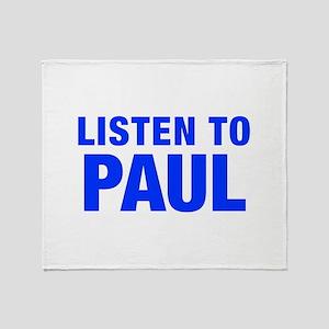 LISTEN TO PAUL-Hel blue 400 Throw Blanket