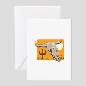 STEER SKULL DESIGN Greeting Cards