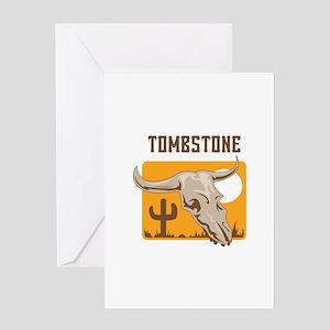 SKULL TOMBSTONE AZ Greeting Cards