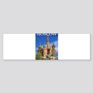 Moscow Kremlin Saint Basil's Cathed Bumper Sticker