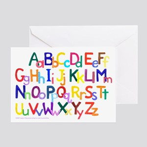 Abc greeting cards cafepress alphabet gift card m4hsunfo
