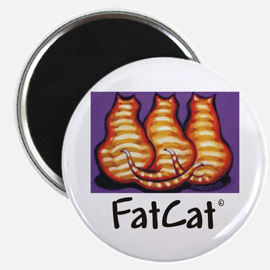 FatCat Orange Cat Magnet