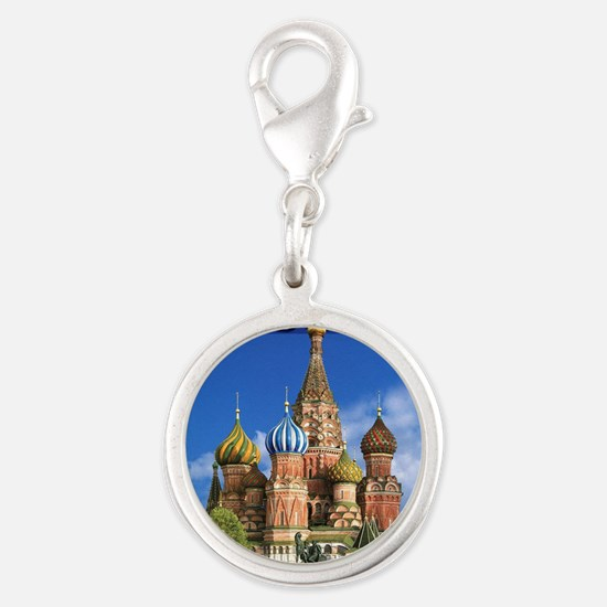 Moscow Kremlin Saint Basil's Cathedral Red Charms