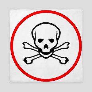 Poison Sign Skull Symbol Toxic Queen Duvet