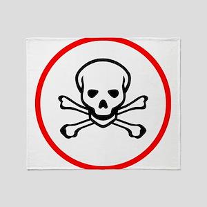 Poison Sign Skull Symbol Toxic Throw Blanket