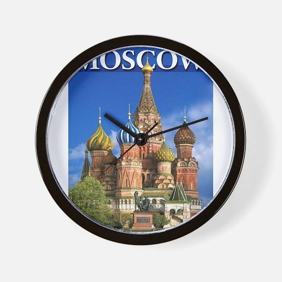 Moscow Kremlin Saint Basil's Cathedral Wall Clock