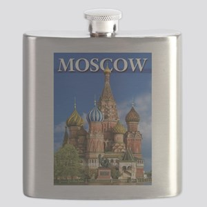 Moscow Kremlin Saint Basil's Cathedral Red S Flask