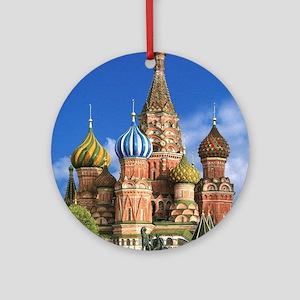Moscow Kremlin Saint Basil's Cath Ornament (Round)