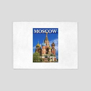 Moscow Kremlin Saint Basil's Cathed 5'x7'Area Rug