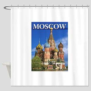 Moscow Kremlin Saint Basil's Cathed Shower Curtain
