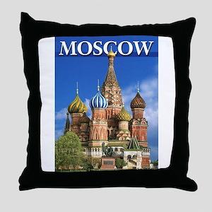 Moscow Kremlin Saint Basil's Cathedra Throw Pillow