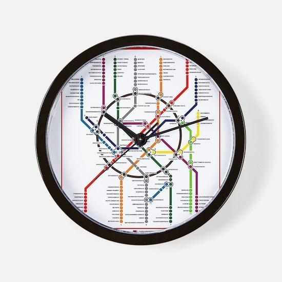 Moscow Metro Wall Clock