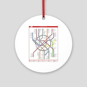 Moscow Metro Ornament (Round)