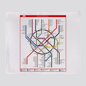 Moscow Metro Throw Blanket