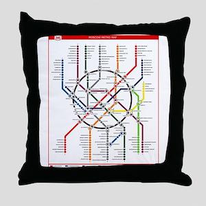Moscow Metro Throw Pillow