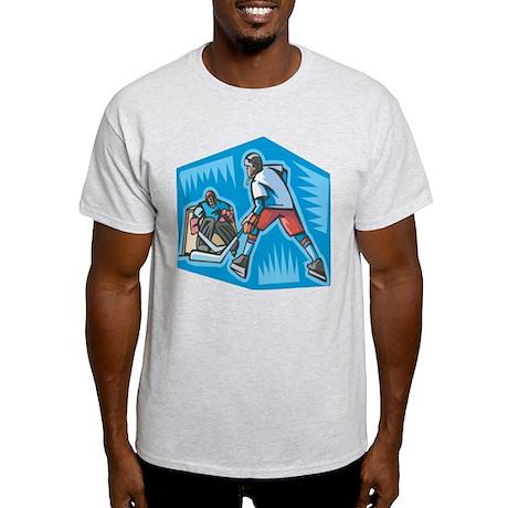 Hockey Player & Goalie Light T-Shirt