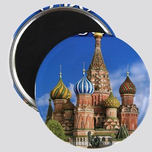 Moscow Kremlin Saint Basil's Cathedral Red Magnets