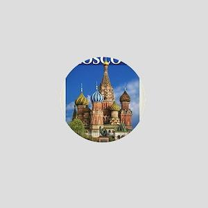 Moscow Kremlin Saint Basil's Cathedral Mini Button