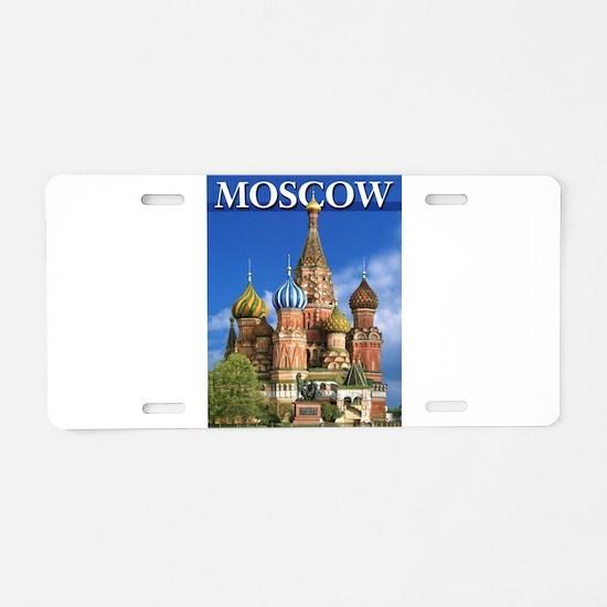 Moscow Kremlin Saint Basil' Aluminum License Plate