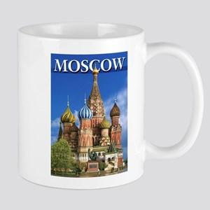 Moscow Kremlin Saint Basil's Cathedral Red Sq Mugs